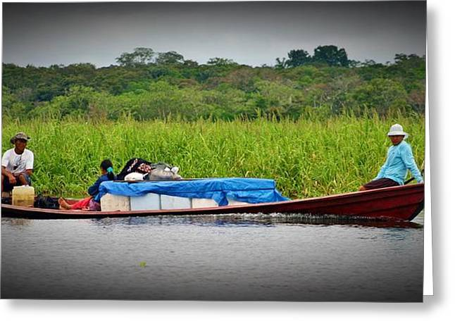 Greeting Card featuring the photograph Amazon Travel by Henry Kowalski