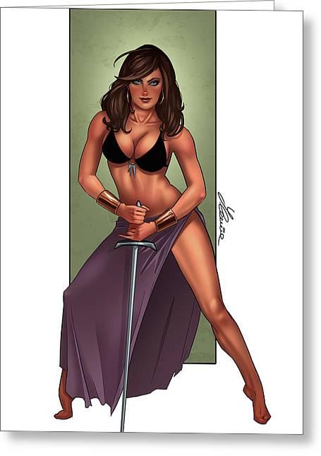 Amazone Greeting Card by Ylenia Art