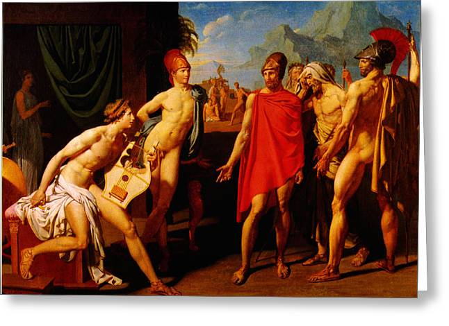 Ambassadors Sent By Agamemnon To Urge Achilles To Fight 1801 Greeting Card by MotionAge Designs
