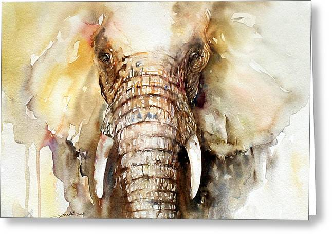 Amber Elephant Greeting Card