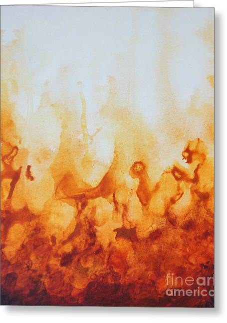 Amber Flame Greeting Card