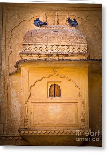 Amber Fort Birdhouse Greeting Card