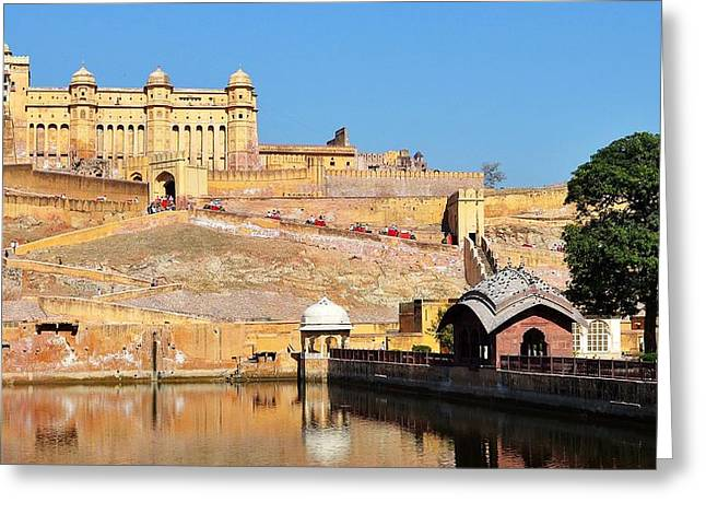 Amber Fort - Jaipur India Greeting Card by Kim Bemis