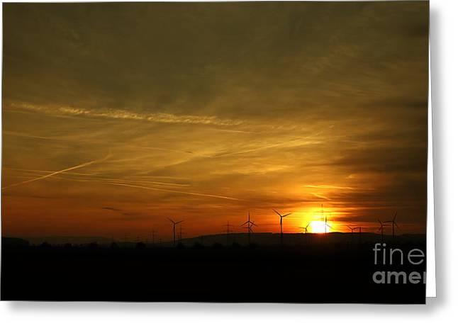 Amber Sky Greeting Card by Franziskus Pfleghart