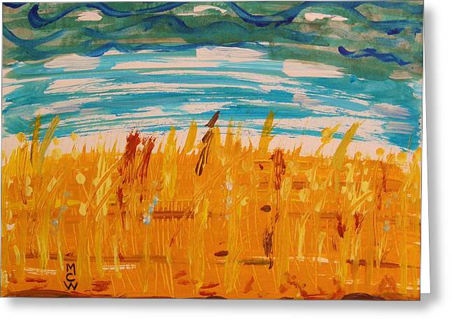Amber Waves Greeting Card by Mary Carol Williams
