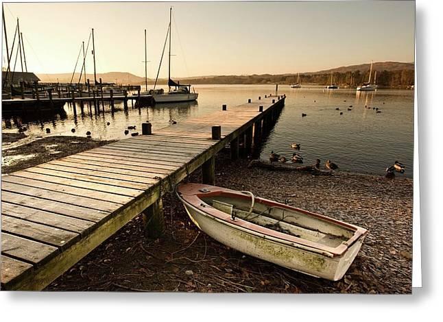 Ambleside, Cumbria, England  Harbor Greeting Card by John Short