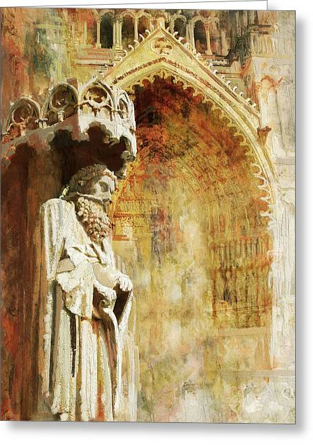 Ameins Cathedral  Greeting Card