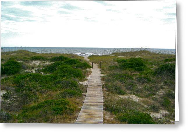 Amelia Island Beach Greeting Card