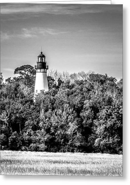 Amelia Island Lighthouse Greeting Card by Wade Brooks