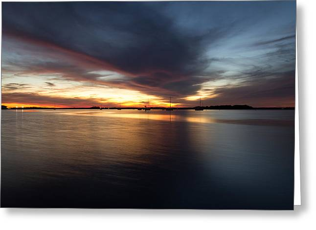 Amelia Island Sunset Greeting Card by Wade Brooks