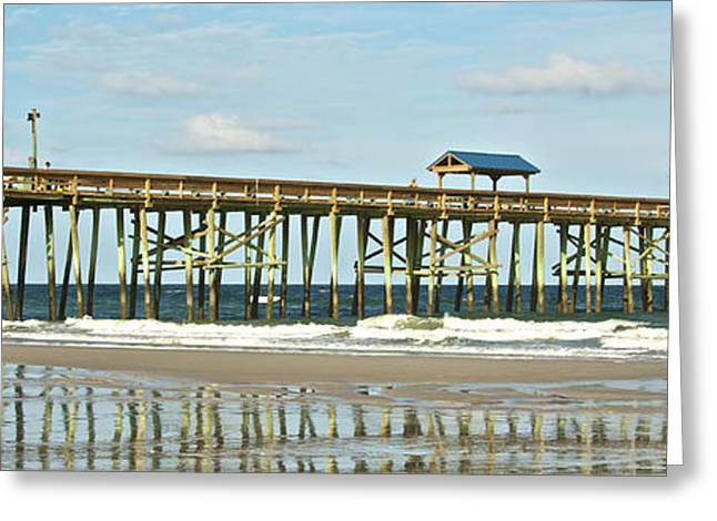 Greeting Card featuring the photograph Amelia's Pier by Paula Porterfield-Izzo