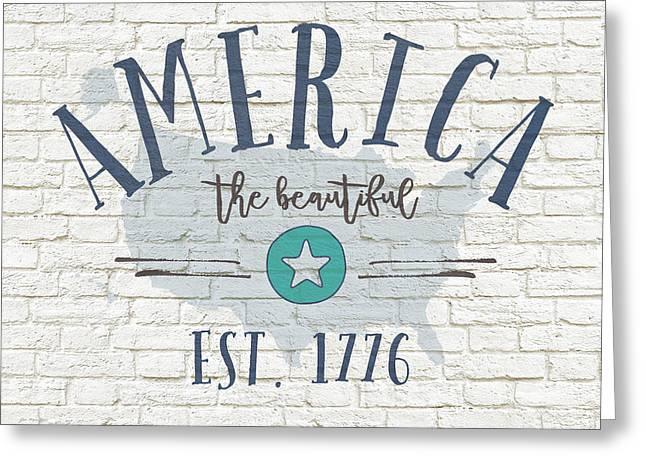America Brick Greeting Card