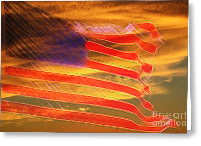 America Distress Greeting Card by Beverly Guilliams