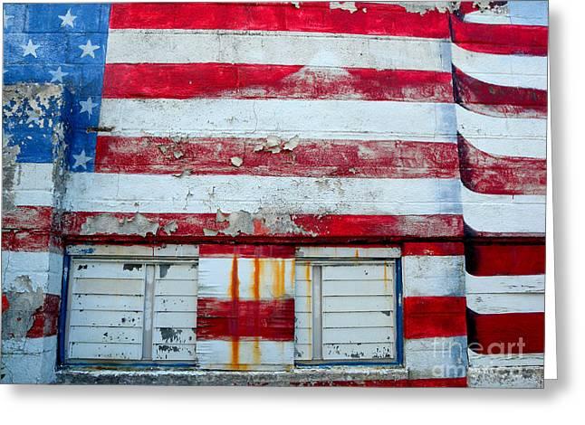 Greeting Card featuring the photograph America Legion  Greenport  Ny by Robert Riordan