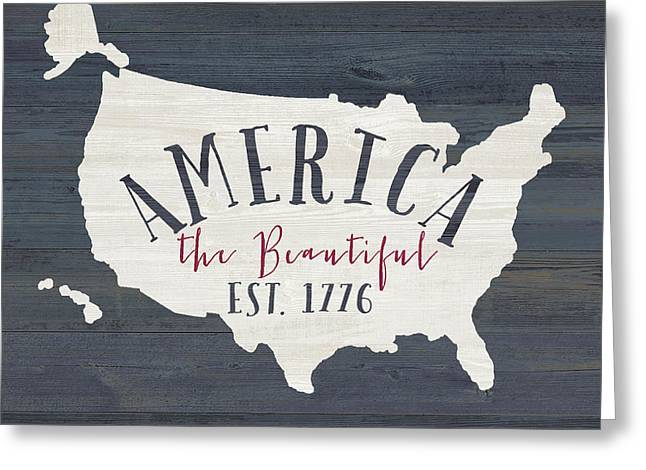 America The Beautiful Greeting Card