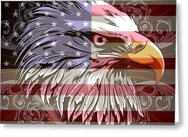 America The Beautiful Greeting Card by Stanley Mathis