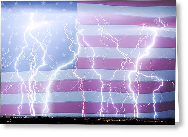 America The Powerful Greeting Card by James BO  Insogna