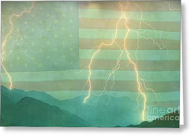 America Walk The Line  Greeting Card by James BO  Insogna