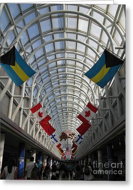 America Welcomes You. Chicago O Hare International Airport. Greeting Card