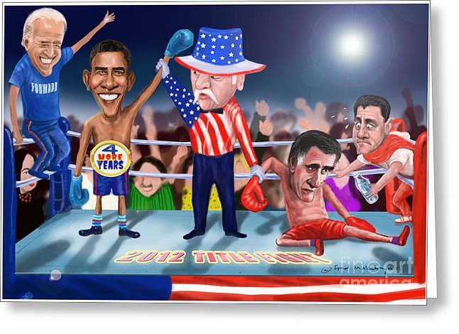 America Wins Greeting Card by Fred Makubuya