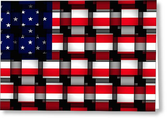 American Abstract Greeting Card by L Brown
