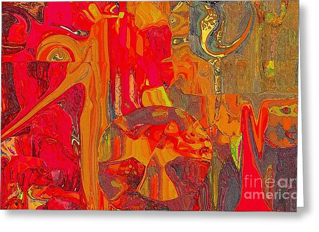 - American Abstract Greeting Card by Sherri  Of Palm Springs