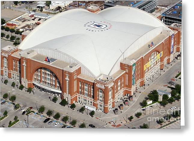 American Airlines Center Dallas Greeting Card by Bill Cobb