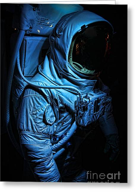 American Astronaut - Buzz Aldrin's Suit Greeting Card by Lee Dos Santos
