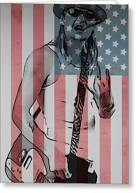 American Badass Greeting Card by Dan Sproul