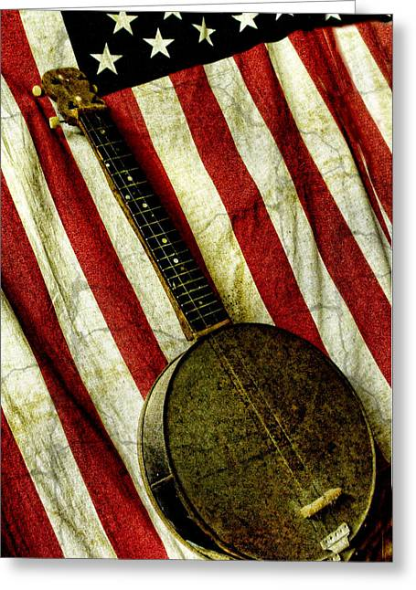 American Banjo Greeting Card by Kristie  Bonnewell