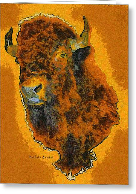 American Buffalo Greeting Card by Barbara Snyder