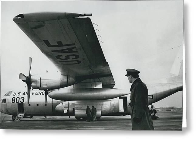 American C.130 E. Aircraft - Demonstrated For Air Force Greeting Card by Retro Images Archive