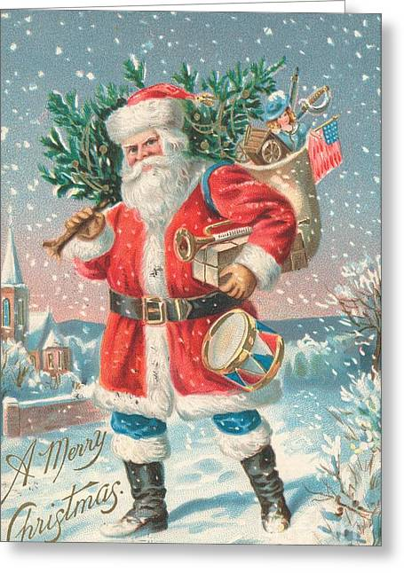 American Christmas Card Greeting Card by American School