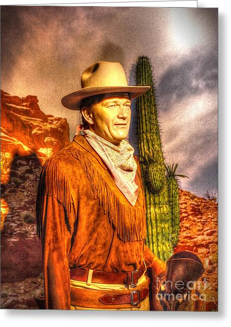 American Cinema Icons - The Duke Greeting Card