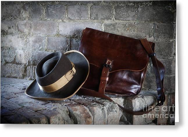 American Civil War Hat And Sack Greeting Card by Janis Lee Colon