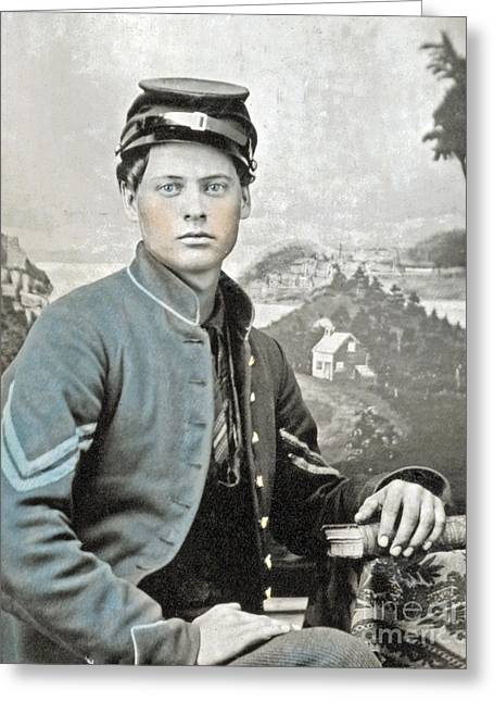 An American Civil War Soldier Greeting Card by Celestial Images