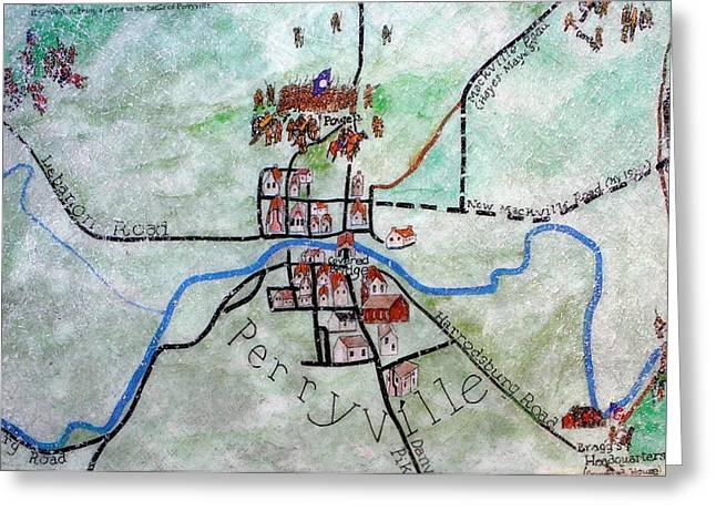 American Civil War Town - Perryville Ky Greeting Card by Thia Stover