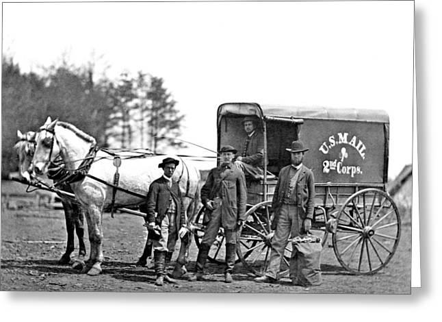 American Civil War, Union Mail Wagon Greeting Card