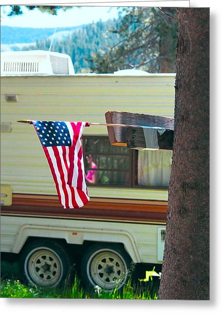 American Culture Greeting Card by Dean Drobot