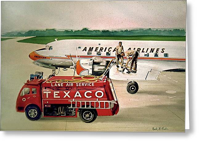 American Dc-6 At Columbus Greeting Card