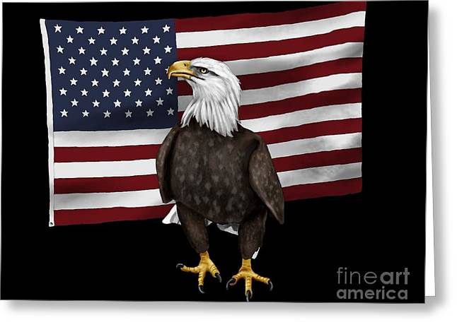 American Eagle Greeting Card by Karen Sheltrown