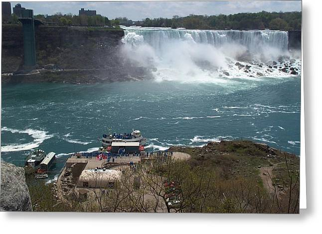 Greeting Card featuring the photograph American Falls From Above The Maid by Barbara McDevitt