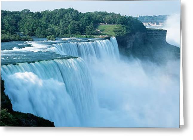 American Falls Niagara Falls Ny Usa Greeting Card by Panoramic Images