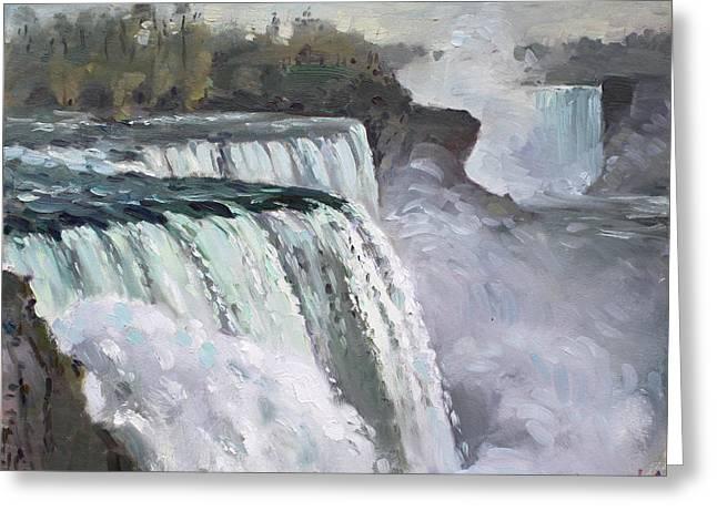 American Falls Niagara Greeting Card by Ylli Haruni