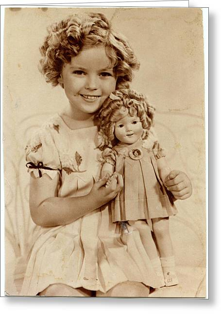 American Film Actress Shirley  Temple Greeting Card