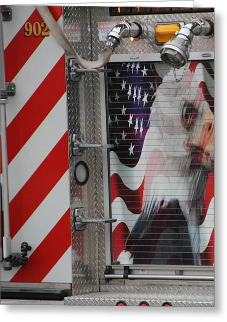 American Fire Engine Greeting Card by Dan Sproul