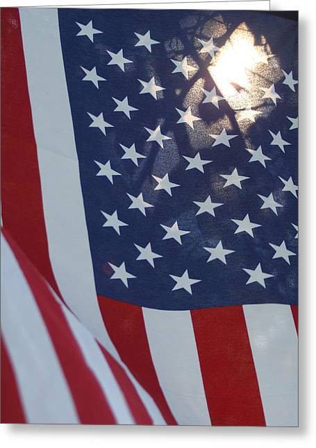 American Flag - 01131 Greeting Card