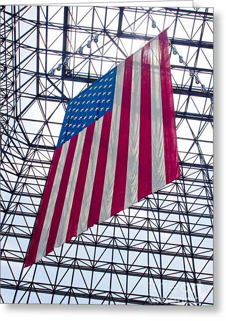 American Flag At The Kennedy Library IIi Greeting Card