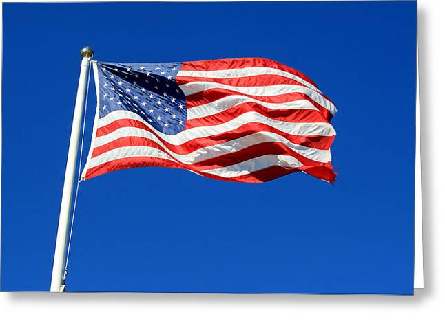 Greeting Card featuring the photograph American Flag by Barbara West