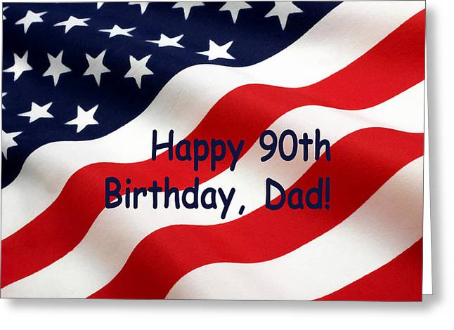 American Flag Birthday Salute Greeting Card